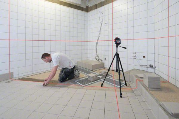 Линейный лазерный нивелир Bosch GLL 3-80 Использование